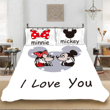 Disney Cartoon Bedding Mickey Mouse Minnie Duvet