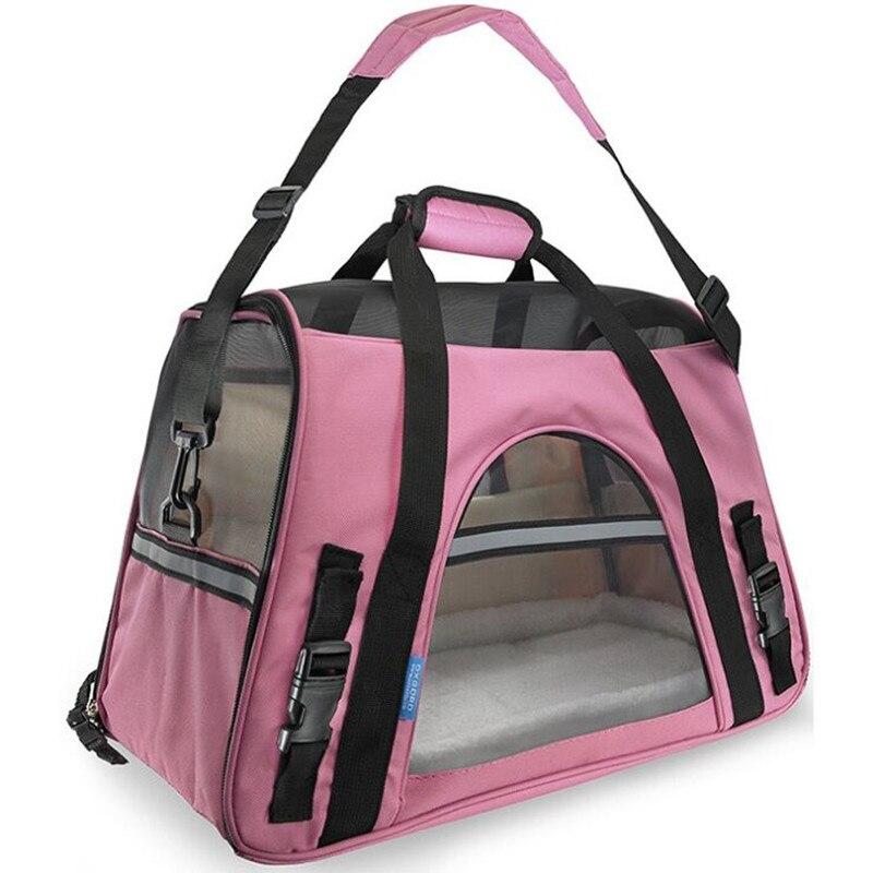Taşınabilir köpek kedi taşıyıcı çanta Pet köpek seyahat çantaları nefes örgü küçük köpek kedi Chihuahua taşıyıcı giden evcil hayvan çanta