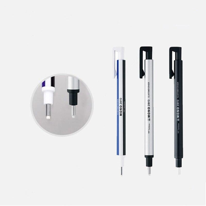 Ластик с круглым наконечником, в запасной упаковке, ультратонкий карандаш из резины, идеальная корректировка деталей, профессиональный лас...