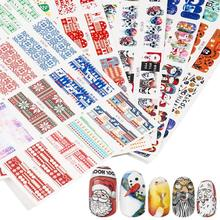 Get more info on the Christmas Halloween Nail Sticker Water Transfer Self-Adhesive DIY Nail Art Decoration Sticker Christmas Manicure Decoration