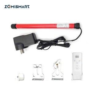 Image 1 - Zemismart For 20mm Tube Roller Shade Motor Smart Home DC12V RF433 Tubular Electric Curtain Suit for Broadlink
