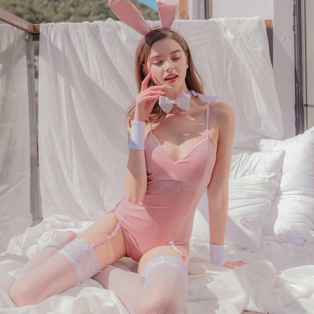 Sexy Rabbit Cosplay Costumes with Tail 2