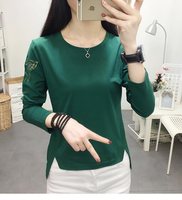 Long sleeve dress han edition of new fund of 2019 autumn coat fashion t shirts render unlined upper garment
