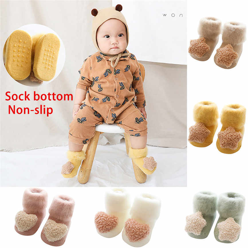 Leuke Baby Winter Warm Katoenen Sokken Thuis Vloer Multicolor 2019 Kinderen Kids Sokken antislip Peuter Schoeisel Wol Korte sokken z3