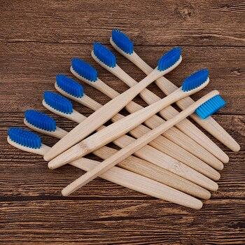 10 Uds Eco cepillos De Dientes bambú Cepillo De Dientes medio cerdas...