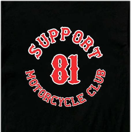 New Support 81 Motorcycle Club Logo Men'S T-Shirt To 2019 Cool Tees