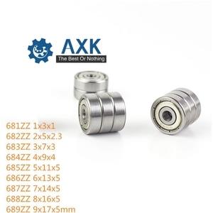 681ZZ bearing 682ZZ 683ZZ 684ZZ 685ZZ ABEC-1/ABEC-5 ( 10 PCS ) Miniature Ball Bearings 686ZZ 687ZZ 688ZZ 689ZZ Deep groove(China)