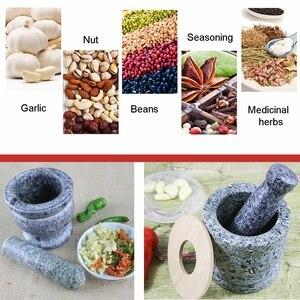 Новая дробилка для чеснока из натурального камня, ручная мельница для трав, измельчитель, мельница для специй перца