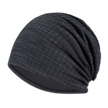 spring and autumn thin section baotou striped summer Unisex  double windproof hat outdoor turban cap headgear beanie cc