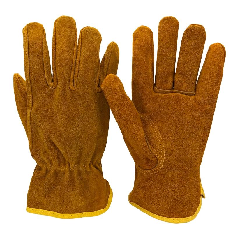 Men's Safety Work Gloves Cowhide Leather Working Welding Gloves Safety Protective Garden Sports MOTO Wear-resisting GlovesNG4015