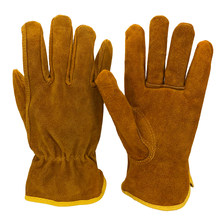 Men's Safety Work Gloves Cowhide Leather Working Welding Gloves Safety Protective Garden Sports MOTO Wear-resisting GlovesNG4015