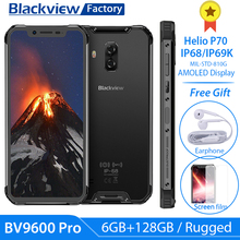 ใหม่ Blackview BV9600 Pro Helio P70 6GB + 128GB สมาร์ทโฟน 16MP 6.21 นิ้ว FHD + IP68 โทรศัพท์ 4G Android 9.0 โทรศัพท์มือถือ NFC