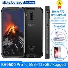 Novo blackview bv9600 pro helio p70 6 gb + 128 gb smartphone 16mp 6.21 polegada fhd + ip68 áspero telefone 4g android 9.0 nfc telefone móvel
