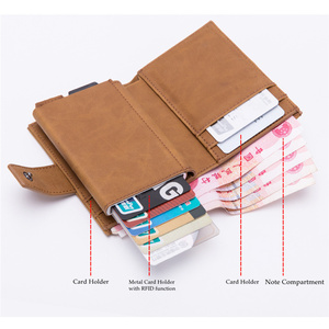 Image 3 - BISI GORO 2019 New Style RFID Card Holder And Minimalist Wallet Metal Men Women Single Box Aluminium Blocking Holder for Cards