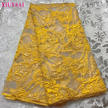 XIUYSAI Gold Color African lace fabric 2020 High Quality Brocade Lace for Bridal Materials Nigerian Brocade Fabric For Wedding