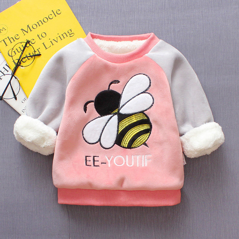 BibiCola Baby girls sweater winter infant warm pullover outerwear for girls toddler autumn velvet coats newnorn baby clothes