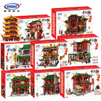DHL Xingbao 01024 01002 01003 01004 01020 01021 01022 01023 Classic Chinese Traditional House Model Building Block Kid Toys Gift