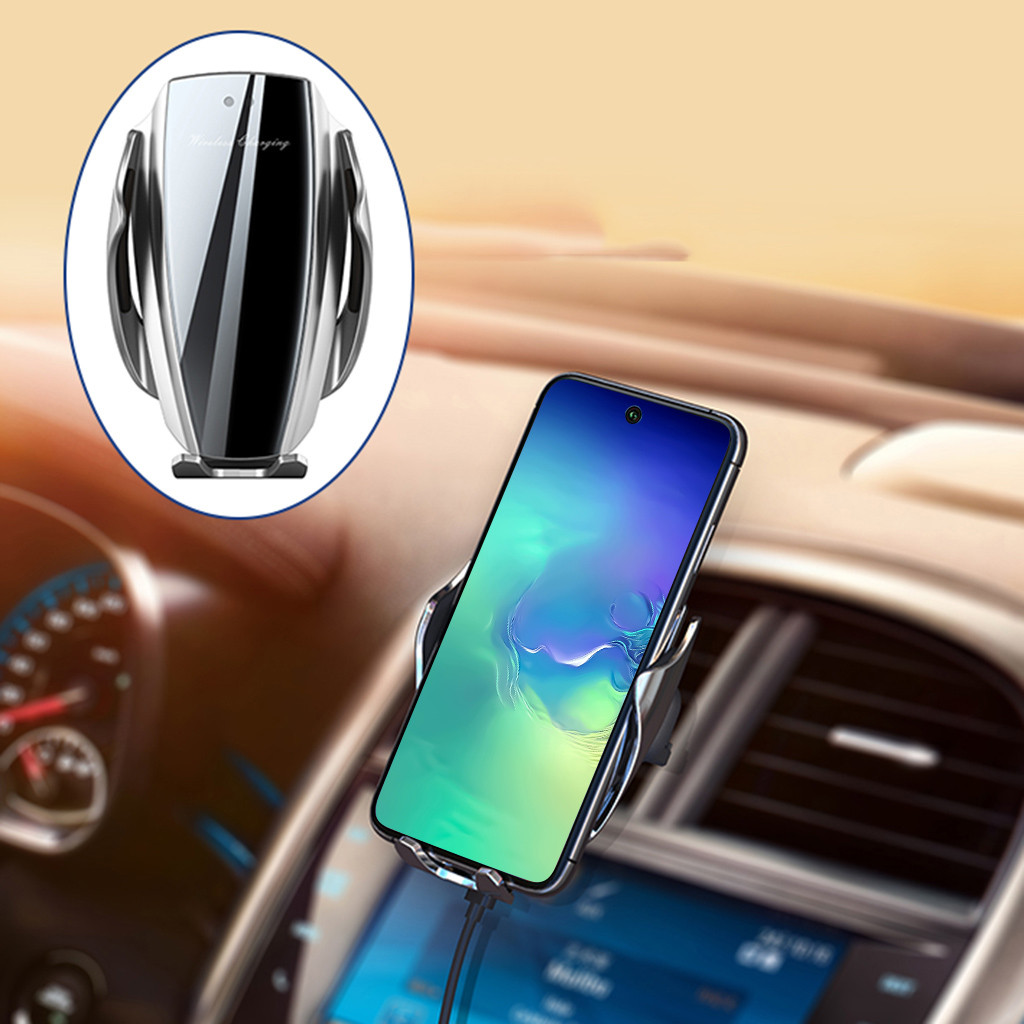 Automatic Clamping Wireless Car Charger Fast Charging Mount For Samsung Note 10