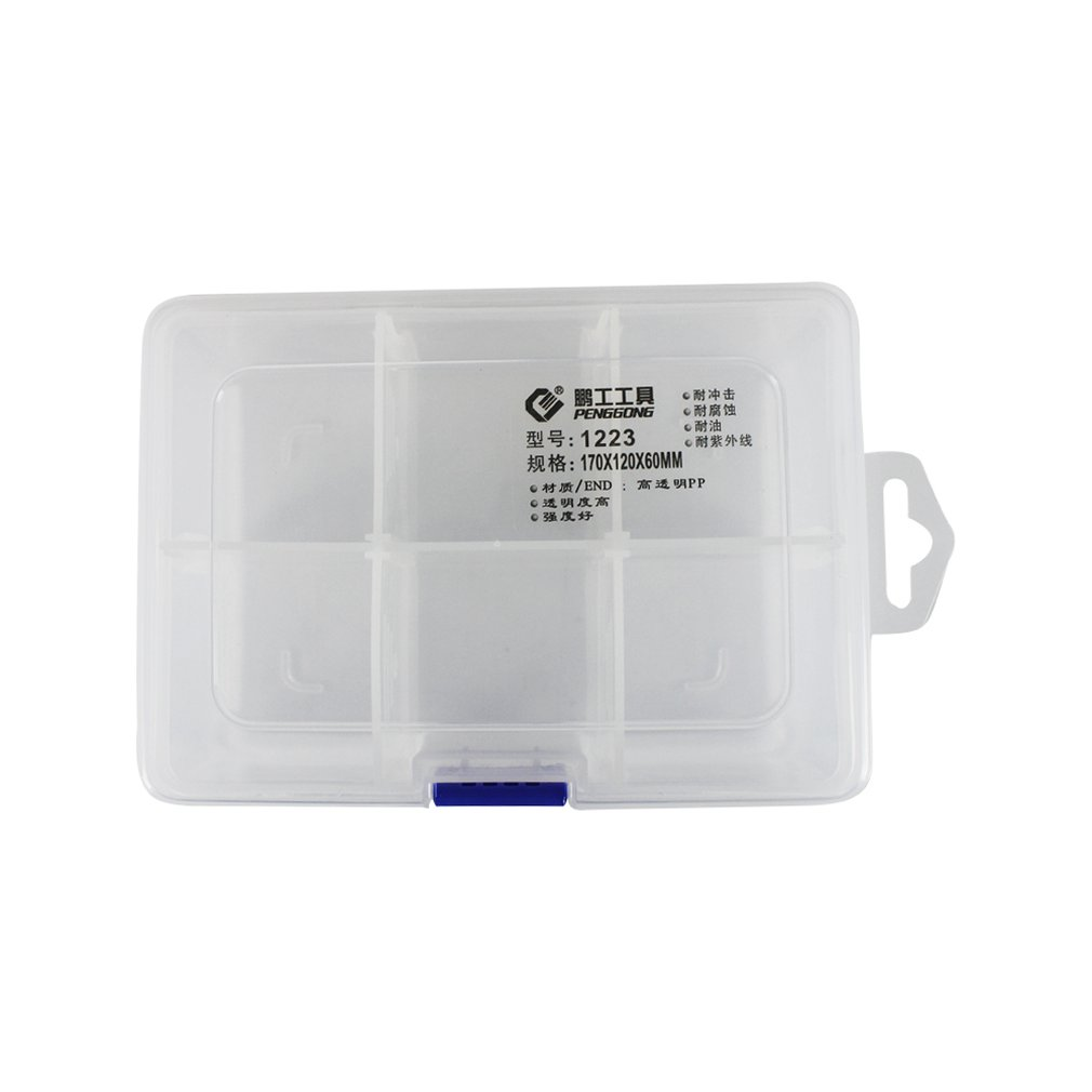 1223 Plastic Tool Box Transparent Toolbox Electronic Components Screw Storage Box Electronic Plastic Parts Tool Boxes