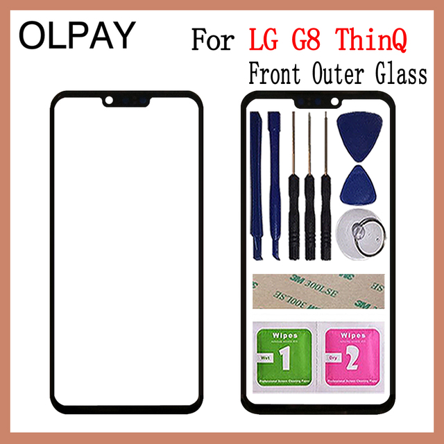"""6.1"""" inch For LG G8 ThinQ G820N G820QM G820V G820UM Touch Screen Front Outer Glass Panel Replacement"""
