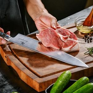 Image 2 - 전문 12 인치 요리사 나이프 독일 1.4116 스테인레스 스틸 gyuto 나이프 고품질 주방 나이프 요리 도구
