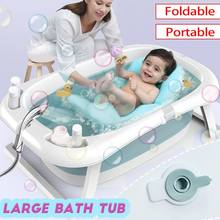 Folding Bathtub Children Lying Universal Bath Barrel Oversize Baby Newborn Supplies Baby Bath Tub with/without thermometer