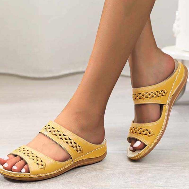 2020 düz bayan sandalet ayakkabı Retro plaj bayanlar ayakkabı kadın ayakkabısı kadın Flip flop moda gladyatör düz sandalet kadınlar için