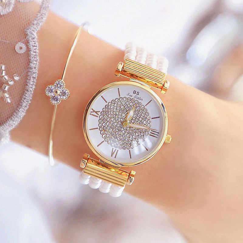 Zegarki Damskie 2019 Women Quartz Watches Luxury Pearl Bracelet Elegant Dress Watches Ladies Wristwatch Relogios Femininos saat
