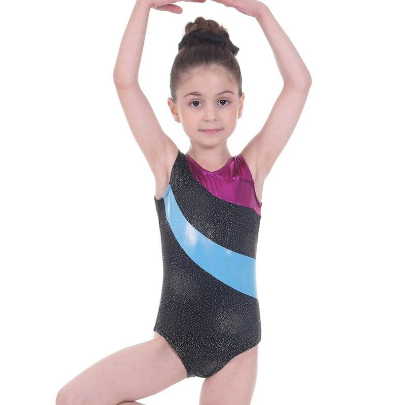 Girls Ballet Gymnastics Leotards One-Piece Practice Outfit 3-14 Years Sleeveless Ballet Tutu Dance Wear Clothes
