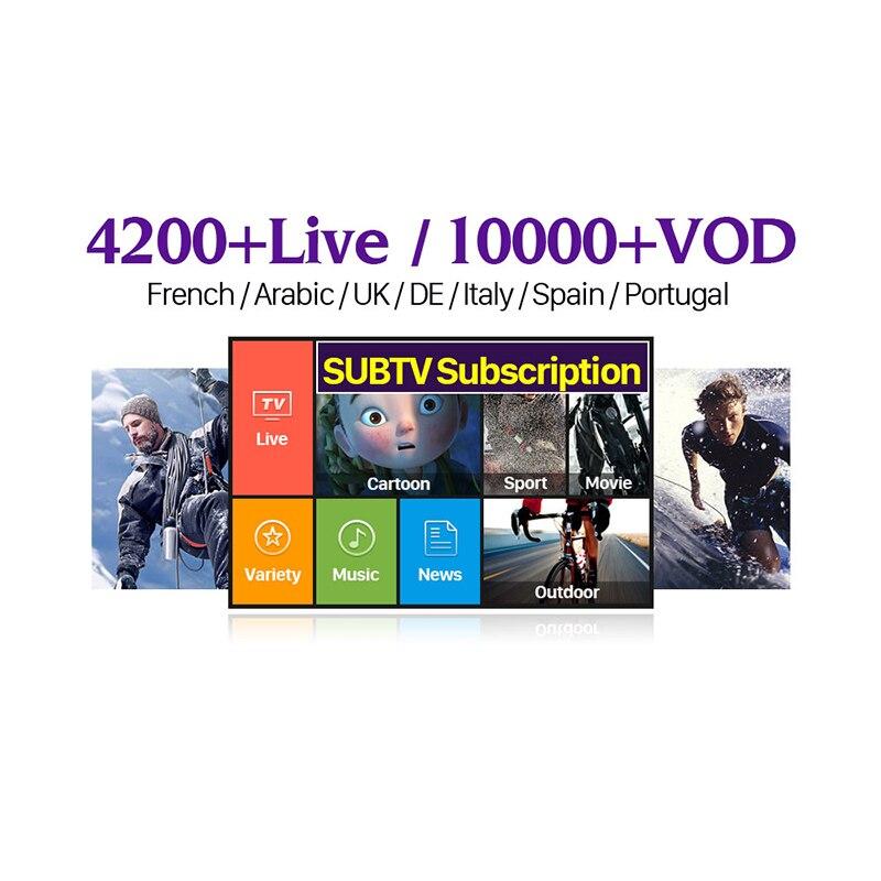 SUBTV IPTV France Arabic Italy IPTV Subscription Portugal UK Turkey IPTV Code M3U Mag Albania Spain