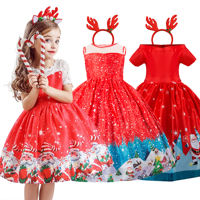 Silk little girls christmas dresses 3-10 years