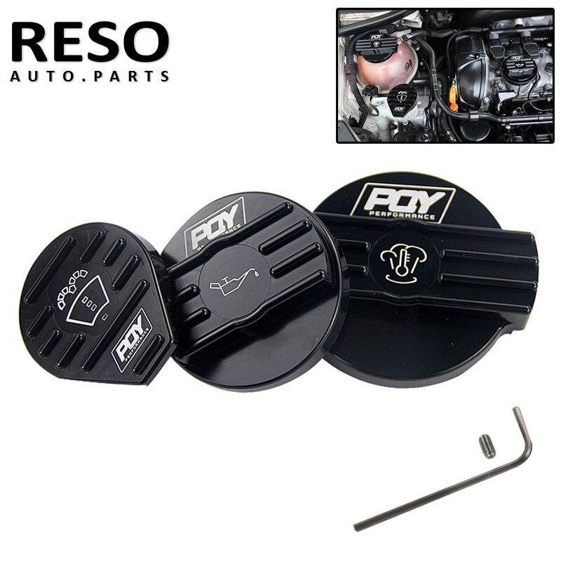 Aluminum Covers Tank Cap Bottle Cap Oil Cap For VW CC Golf GTI Audi Seat Skoda 2.0T Scirocco Engine Protect Origingal Cap