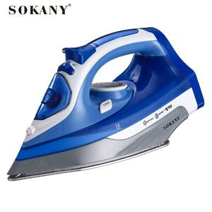 SOKANY 8878C Cordless Electric Steam Iron 2400W Electric Irons garment Steam Generator road irons Non-stick Soleplate Adjustable