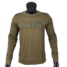Army  Men's T-Shirt Crewneck Army Green Winter Outdoor Soft Cotton Retro WW2 US Army Tactical Shirt Vintage Shirt Tactical Shirt