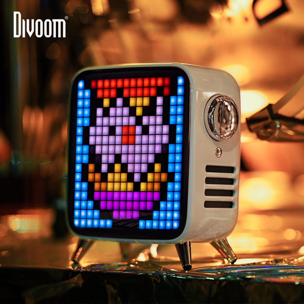 Divoom Tivoo Max Pixel Art Bluetooth Wireless Speaker with 2.1 Audio System 40W Output Heavy Bass App control for IOS & Android image