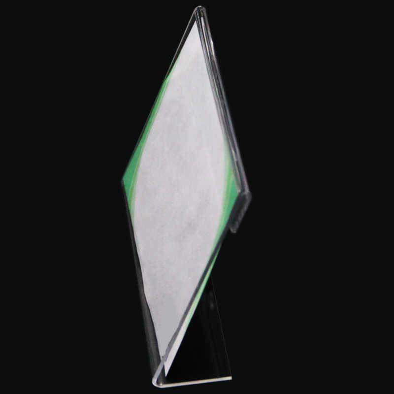 20 Acrylic Kinh Doanh Để Thẻ Chữ L Acrylic Trong Suốt Bàn Giá Hãng Màn Hình Giấy Bàn Ký Kệ Chụp Ảnh khung