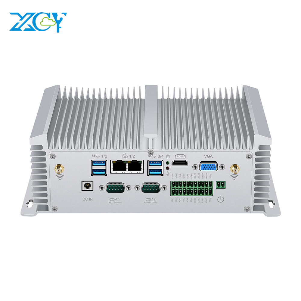 Mini PC Core I5 8250U 7200U I7 7500U DDR4 RAM 2*COM RS485/232 2*LAN HDMI VGA WIFI Windows Linux Nettop Fanless Mini Computer