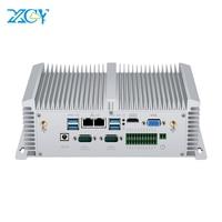 Mini PC Core i5 8350U 7200U i7 7500U DDR4 RAM 2*RS485/232 2*LAN HDMI VGA WIFI Windows Linux Nettop Fanless Mini Computer