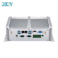 Mini PC Core i5 8350U 7200U i7 7500U DDR4 RAM 2 * RS485/232 2 * LAN HDMI VGA WIFI Finestre Linux Nettop Fanless Mini Computer