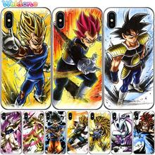 cartoon Dragon Ball Wukong Super Saiyan For iPhone 11 Pro Max XS XR X 8 6S 7Plus 5S case cover etui