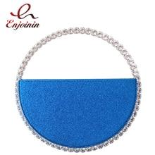 Purses Handbags Clutch-Bag Evening-Bag Rhinestone Diamond Sequin Round-Handle Colour