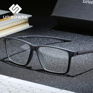Image 1 - Siyah TR90 bilgisayar gözlük çerçevesi erkekler optik miyopi gözlük Anti mavi ışık engelleme gözlük gözlük reçete gözlük