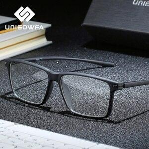 Image 1 - 黒TR90 コンピュータ男性光学近視眼鏡抗ブルー遮光メガネ処方眼鏡
