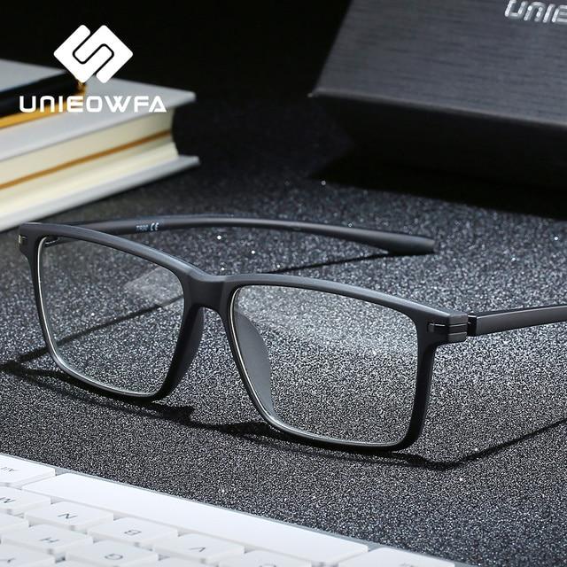 黒TR90 コンピュータ男性光学近視眼鏡抗ブルー遮光メガネ処方眼鏡