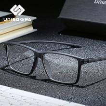 Zwart TR90 Computer Bril Frame Mannen Optische Bijziendheid Brillen Anti Blauw Licht Blokkeren Bril Recept Bril