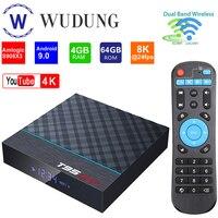 T95 MAX Plus Set Top Box Amlogic S905X3 Android 9,0 4G 32G/64G 2,4G & 5G Dual Wifi Bluetooth 4K Home Media Player Smart TV BOX