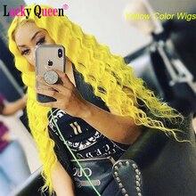 613 блонд бразильский глубокая волна 13х4 кружева парики Remy волосы 150% плотность кружева передние человеческие волосы парики Lucky парик королев...