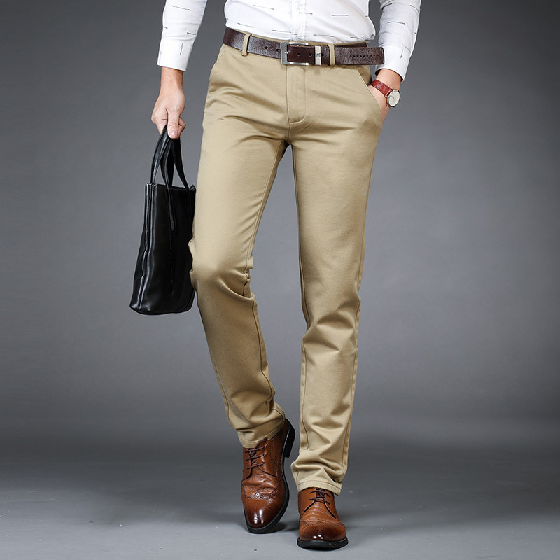 2019 Summer New Style Young And Middle-aged Men Korean-style Casual Pants High-waisted Prime Thin Straight-Cut Versatile Trouser