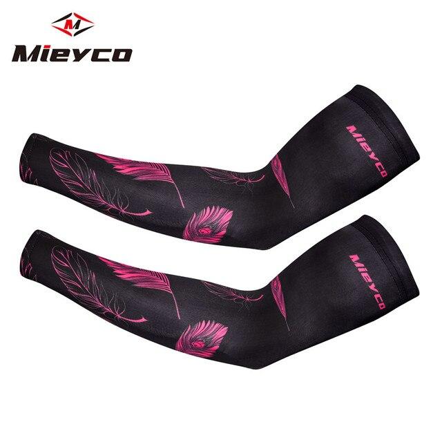 Braço de esportes manga compressão manguito ciclismo mangas braços verão proteção uv bicicleta punhos correndo voleibol tatuagem braço capa 2