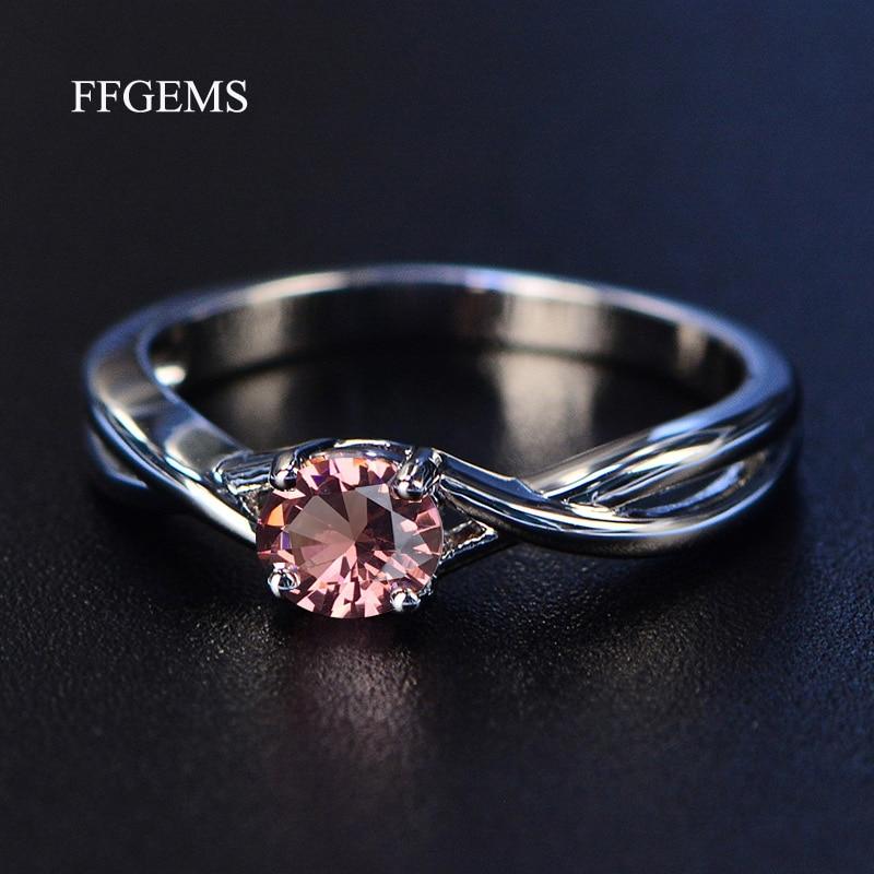 FFGems Gemstone zultanite Amethyst Silver Ring Blue Sapphire Ring Silver 925 Jewelry Aquamarine Rings For Women Engagement Rings
